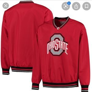 NWT Ohio State Buckeyes Wind Up Pullover Jacket M